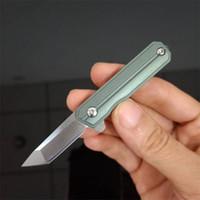 Hohe Qualität 6 Arten Mini Kleines Flipper Klappmesser D2 Steinwaschklinge TC4 Titan-Legierung Outdoor EDC-Taschenmesser EDC-Werkzeuge