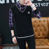 2018 autumn and winter new men' s sweater fashion casual...