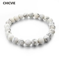 CHICVIE Natural Stone Strand Femme Bracelets With Stones Cas...