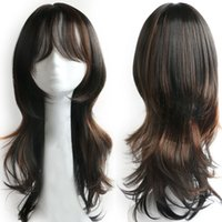 Synthetic Hair Wigs with Air Bangs New Fashion Long Wavy Hai...