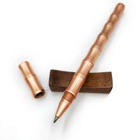 Penna a sfera in bambù con penna in metallo 100% penna di alta qualità Forniture per studenti regalo in grado di stampare logo