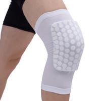 NEW STYLE Honeycomb Спорт Безопасность Волейбол Баскетбол Коротких Наколенники противоударных компрессионные носки бинты Brace защита однокомпонентных