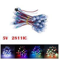 12mm WS2811 2811 IC Full Color Pixel Modulo LED Luce DC 5V ingresso IP68 impermeabile RGB a colori Digital LED Pixel Light