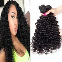 Grade 9A Brésilienne Human Cheveux Bundles Body Wave Droits Lâche Vague Kinky Curly Non tourlandée Brésilienne Vierge Péruvienne Vierge Coiffure