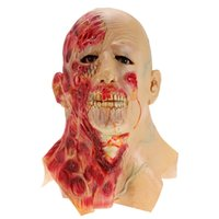 Halloween Adult Mask Zombie Mask Latex Bloody Scary Extremel...
