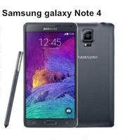 Оригинал разблокирован Samsung Galaxy Note 4 сотовый телефон 16MP камера 3GB RAM 32GB ROM 3G/4G 5.7 сенсорный восстановленный телефон