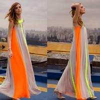 Femmes Boho Robe D'été Style Patchwork Casual Robes Longues Dames Sans Manches Lâche Robe Vestidos Longo Haute Rue Robes Party Maxi Dress