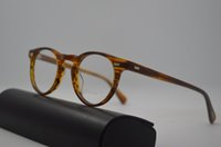 fd29ed0d7c4 Oliver peoples ov5186 Gregory Peck fashion round eyeglasses frames Vintage  optical myopia women and men eyewear prescription sun lens