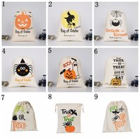 Cotton Canvas Halloween Sack Children favor Candy cloth Gift...