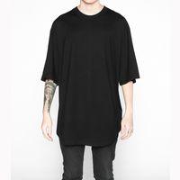 Estendi Hip Hop Street T -shirt Uomo Moda all'ingrosso Us Size T Shirt Uomo Estate Manica corta Oversize Pure Color Vendita calda