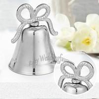 12PCS Silber Bowknot Place Kartenhalter in Organzabeutel Verpackung Hochzeit Gefälligkeiten Party Tisch Dekor Idee