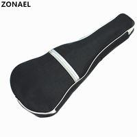 ZONAEL Ukulele Soft Shoulder nero argento Carry Case Bag Musical con cinturini per chitarra acustica Accessori per strumenti musicali
