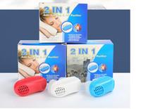 Novo 2 em 1 Anti Parar Ronco Silicone Magnético Ronco Rolha Respirar Solução de Circuito de Filtro Frete Grátis