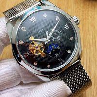 Nova chegada homens relógios 43mm dial Mecânico Automático de Aço Inoxidável Completa banda relógio para homens Relógio de pulso À Prova D 'Água Relogio masculino 2018
