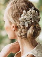 Belles Perles Peigne Cristaux De Mariage De Mariée Strass Perle Perlé Accessoires Cheveux Bandeau Bande Couronne Tiara Headpiece Bijoux