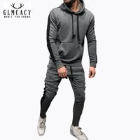 Men Tracksuits Gradient Suit Contrast Full Pullover Long Sle...