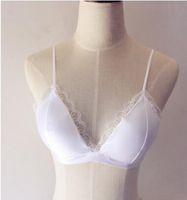Verano nuevo encaje sexy sujetador respaldo correas del hombro delgado envuelto pecho profundo V con triángulo sujetador ropa interior bikinis honda