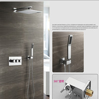 Rain Bath Set Bathroom Shower Hot and Cold Faucets 12 Inch Shower head + Mixer + Hand shower + arm