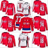 Washington Capitals Jersey 19 Nicklas Backstrom 35 Henrik Lundqvist 70 Braden Holtby 74 John Carlson 77 TJ Oshie Hokeyi Formalar