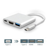 Typ C zu HDMI 3 In 1 Adapterkabel 3.0 USB 4K HDMI Multiport AV Konverter 3-in-1 Ladeanschluss Schalter für NES Phone Macbook Tablet
