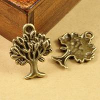 300 ADET Charms hayat ağacı 22 * 17mm Antik Yapma kolye fit, Vintage Tibet Gümüş, moda altın DIY bilezik kolye