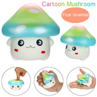 Kawaii Dos Desenhos Animados Do Cogumelo Rainbow Squishies Lento Rising Fruit Scented Squeeze Apaziguador Do Esforço Brinquedos