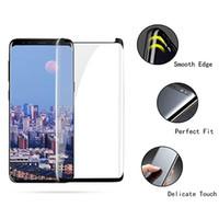 Verre trempé convivial pour boîtier de colle pour Samsung Galaxy S9 + S9 S8 + S8 S7 edge Protection d'écran 9 8 S6 Edge Plus avec la boîte de détail
