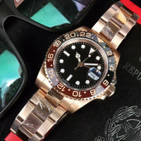 New Rose gold GMT2 Listed V3 Version Batman mens watch autom...
