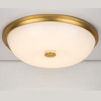 Cobre DIODO EMISSOR de luz redonda lâmpada do teto Dia54cm moderno luz de teto corredor quarto sala de estar lâmpada varanda cozinha corredor luz G584