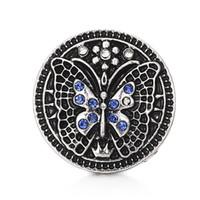 Incrustation perle strass Pentagone / papillon boutons pression 18mm fleur en métal bouton décoratif charmes pour bricolage Snap bijoux Résultats