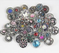 Al por mayor de 18 mm a 20 mm Mixta Noosa Rhinestone Allo botón Ginger Snaps Snaps DIY pulsera collar accesorio de joyería Noosa Chunk Snap Button