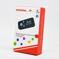 جديد X6 بلوتوث استقبال الموسيقى محول 3.5 ملليمتر دعم بطاقة TF للعب قارئ لاسلكي بلوتوث استقبال سيارة الصوت