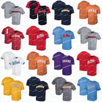 Los hombres de Ole Miss Rebels Tennessee Volunteers de Texas Longhorns Georgia Bulldogs Alabama Crimson Nk Rendimiento jerseys de béisbol