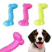 المطاط الحراري tpr مقاومة لدغة العظام الكلب جرو الأضراس المطاط الكرة لعب مضغ تدريب الكرة اللعب الأسنان تنظيف الكلب لعبة