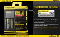 Quente! Nitecore I4 I2 LED Digicharger exibição Carregador de Bateria Universal Nitecore carregador cabo de carregamento pacote de varejo