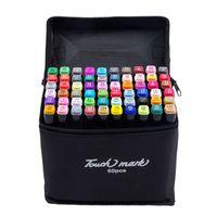 12/24/30/36/40/48/60 / 80Colors Art Markers Pen Set Эскиз Граффити Ручка с двумя головками для рисования Студент Манга Дизайнер