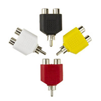 Conector RCA Y Divisor Adaptador de enchufe de audio y video AV 1 convertidor macho a 2 hembra