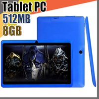 50X 2018 7 Zoll Kapazitiver Allwinner A33 Quad Core Android 4.4 Tablet PC mit zwei Kameras 8 GB 512 MB WiFi EPAD Youtube Facebook Google A-7PB