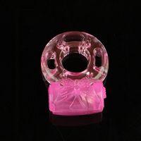 Il pene vibrante dell'anello del rubinetto del silicone del vibratore dell'anello del pene squilla i giocattoli adulti del sesso per l'uomo Rilassamento della donna