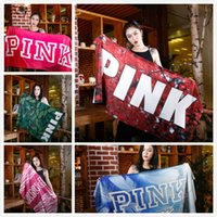 Fashion Summer Swim Beach Towel PINK Letter Sports Sweat Abs...