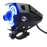 الشحن بواسطة dhl u7 دراجة نارية الصمام المصابيح الأمامية 125 واط 3000 ملليلتر موتو مساعد رئيس مصباح أضواء 12 فولت u7 led motobike ملاك العين كشافات
