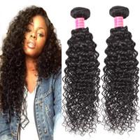 En gros 8A Brésiliens Crépus Bouclés Cheveux Bundles Vison Péruvienne Afro Crépus Bouclés Extensions de Cheveux Humains 2 pcs Indien Bouclés Vierge Cheveux Weaves
