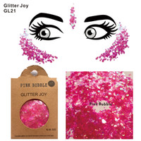 GL21 sweet girly rose bulle corps paillettes paillettes paillettes visage festival de paillettes beauté maquillage pour le corps
