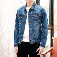 Nuovo autunno inverno moda giacche di jeans uomo jeans slim fit uomo giacche e cappotti casual bomber plus size giacca uomo qualità calda