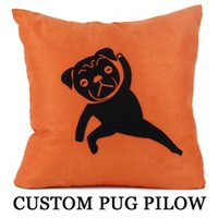 Pug Pillow Case Cute Pet Exercise Kongfu Dog Pillowcase Cush...