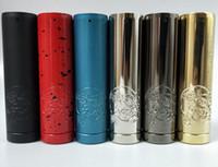 Yeni vape mech mod tasfiye b2b v4 mod klon 21700 20700 18650 pil için elektronik sigara mekanik mod siyah pirinç mavi gümüş