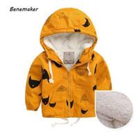 Benemaker зимние флисовые куртки для мальчика траншеи Детская одежда 2-10Y с капюшоном теплая верхняя одежда ветровка детские детские пальто JH019