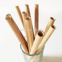 200pcs 20cm Bamboo Straws Bamboo Drinking Straw Reusable Eco...