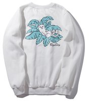 Spring Black White Ripndip Hooded Sweatshirts Middle Finger ...