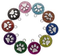 20 قطعة / الوحدة الألوان 18 ملليمتر أقدام القط الكلب باو طباعة شنق قلادة سحر صالح لل diy الحلي الأزياء والمجوهرات سلاسل
